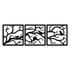 Kit Esculturas de Parede Árvore Passarinhos