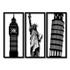 Kit Esculturas de Parede Pontos Turísticos
