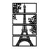 Kit Esculturas de Parede Torre Eiffel