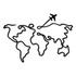 Escultura de Parede Mapa Avião