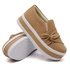 Slip On Nó Lateral Sola Alta Chocolate DKShoes