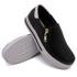 Slip On Zíper Preto Verniz Branco DKShoes
