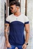 T-shirt Long Trípole Sand/Navy