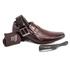 Kit 4 em 1 Sapato Social em Couro Rafarillo 3401101 Mogno 332