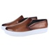 Slip On Masculino Casual Florence em Couro Látego Tan Savelli