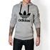 Moletom Masculino Adidas Tradicional - Cinza
