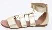 Sandália Feminina Gladiadora Top Franca Shoes Dourado