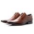 Sapato Clássico De Amarrar Bico Fino Com Solado De Couro e Estampa