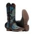 Bota Shiny Hummingbird Blue in Dark - Fóssil Preto | Azul Dourado | Glitter Maxxi Preto com Prata - Nevada - Vimar Boots - 13110-A-VR