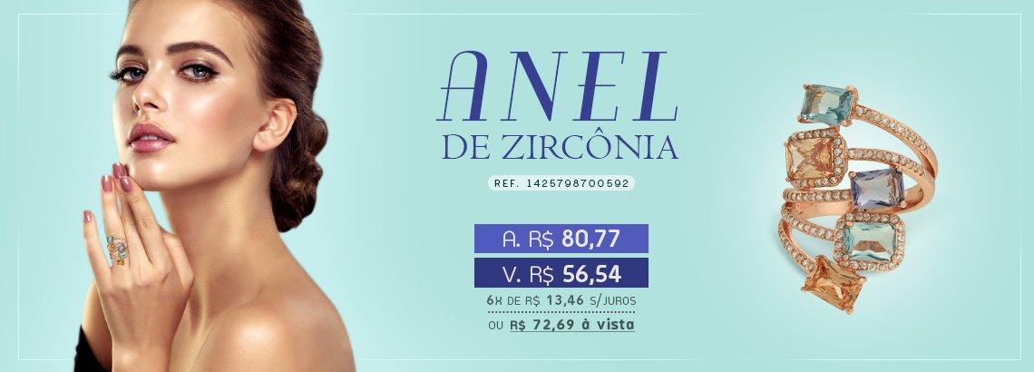 Anel Zirconia Lesprit LA05921WMIXRS Rosé Multicor
