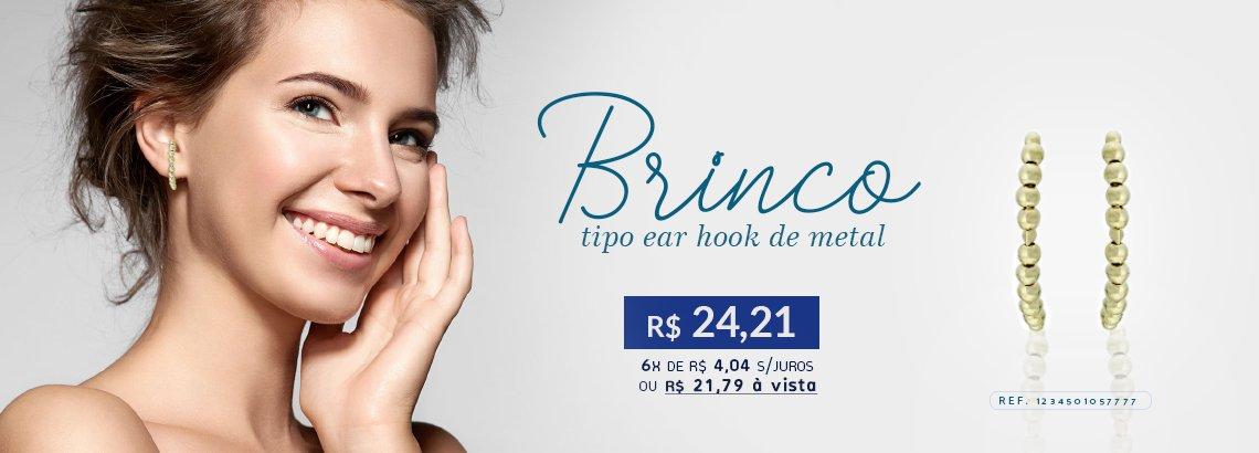 Brinco Zircônia Lesprit LB14471AMLBBK Ródio Negro Turmalina E Ametista