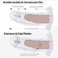 Capa Peniana Com Vibro De 9cm para 13cm SI (1056) - Translúcido
