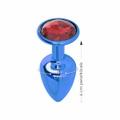 Plug Metálico Com Pedra Variadas Hard P (CSA118-HA118-ST216) - Azul