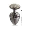 Plug Metálico Com Pedras Cravejadas em Strass Hard M - (HA135) - Onix