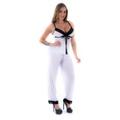 Pijama Melissa Calça (PS8444) - Branco C/ Preto