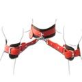 Coleira Com Algemas Harness 50 Tons ( TO0015 ) - Preto C/ Vermelho