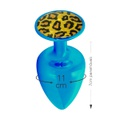 Plug Metálico Com Pedra Variadas Hard M (ST611-HA114) - Azul