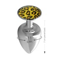 Plug Metálico Com Pedra Variadas Médio Hard (ST611-HA114) - Cromado