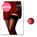 Meia 7/8 Sem Renda Selene (ST255) - Vermelho