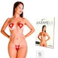Tapa-Sexo Comestível Karamela Formato Coração (ST594) - Morango
