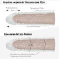 Capa Extensora De 11cm Para 13cm Penis Sleeve (6626) - Translúcido