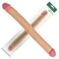 Prótese Com Ponta duplo Slim Ultra Double Dildo 44x15cm (PE060) - Bege