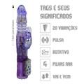 Vibrador Rotativo Vai e Vem VP ( RT014 - ST433 ) - Roxo