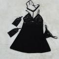 *Camisola em Tule Segredo da Paixão (SP613) - Preto