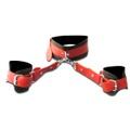 Coleira Com Algemas Harness 50 Tons (T015) - Preto C/ Vermelho