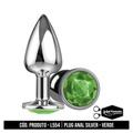 Plug Anal Silver La Pimienta (ST646) - Verde