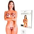 Tapa-Sexo Comestível Karamela Formato Coração (ST594) - Chocolate