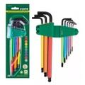 Jogo Chave Allen Longa 1,5-10mm Colorida 9pc - Palma Parafusos e Ferramentas
