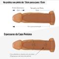 Capa Peniana de 13cm Para 15cm Com Cinta (AC029-ST257) - Bege