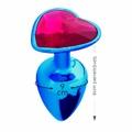 Plug Metálico Pedra Formato de Coração Hard (CSA121-HA121) - Azul