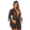 *Robe Veneza Chantilly (PS8352) - Preto