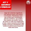 Kit 4 Amarras (ST206) - Vermelho