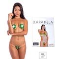 Tapa-Sexo Comestível Karamela Formato Flor (ST575) - Menta