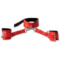 Coleira Com Algemas Harness 50 Tons (t015) - Vermelho