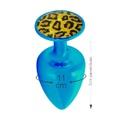 Plug Metálico Com Pedra Variadas Médio Hard (ST611-HA114) - Azul