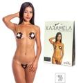 Tapa-Sexo Comestível Karamela Formato Flor (ST575) - Chocolate