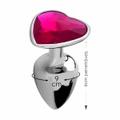 Plug Metálico Pedra Formato de Coração Hard (CSA121-HA121) - Cromado