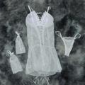 *Camisola Trançada Frente e Costas (SP556) - Branco