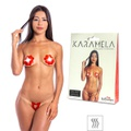 Tapa-Sexo Comestível Karamela Formato Flor (ST575) - Morango