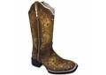 Bota Texana Feminina Hopper em Couro Envelhecida TexasKing