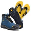 Bota 2160 Azul + Chinelo Amarelo