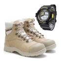 Bota 9820 - Nude + Relógio Preto e Amarelo
