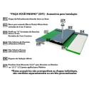 Kit 1 Chapa de Policarbonato Alveolar 1,05 X 6,00 4 Milímetros + Acessórios para Instalação