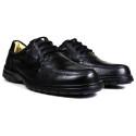 Sapato Casual Conforto Couro Floater Preto 3050