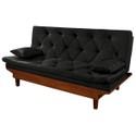 Estofado Sofa Cama Caibe Essencial 3 Lugares Sued Preto