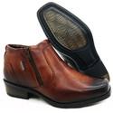 Calçado Bota Masculina Em Couro Kéffor Cor Mogno Linha Arizona Country